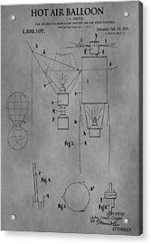 1920 Hot Air Balloon Acrylic Print by Dan Sproul
