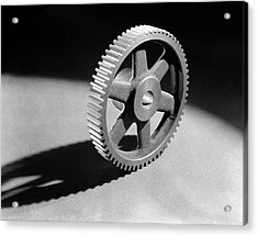 1920s 1930s 1940s Round Machined Acrylic Print
