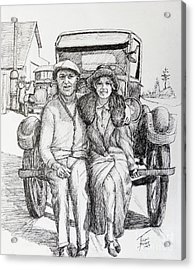 1920s Couple Acrylic Print