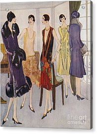 1920s Fashion  1925 1920s Uk Womens Acrylic Print by The Advertising Archives