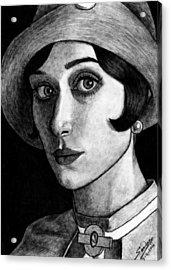 Elizabeth Debiki As Jordan Baker Acrylic Print