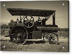 1921 Aultman Taylor Tractor Acrylic Print by Debra and Dave Vanderlaan