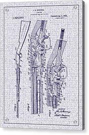 1922 Browning Firearm Patent Acrylic Print by Barry Jones