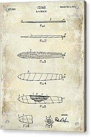 1922 Cigar Patent Drawing Acrylic Print