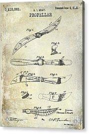 1922 Propeller Patent Drawing Acrylic Print