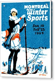 1924 Montreal Winter Sports Poster Acrylic Print by Historic Image