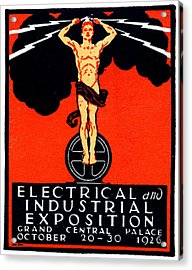 1926 New York City Electrical Industrial Exposition Acrylic Print