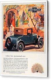 1927 - Chevrolet Advertisement - Color Acrylic Print