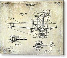1927 Airplane Patent Drawing Acrylic Print