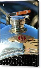 1927 Bentley Hood Ornament Acrylic Print by Jill Reger