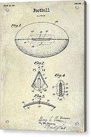 1927 Football Patent Drawing Acrylic Print