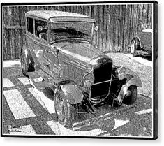 1927 Model T Ford Sedan Acrylic Print by Glenn McCarthy Art and Photography