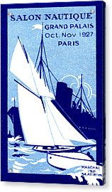 1927 Paris Boat Show Acrylic Print by Historic Image
