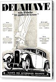1928 - Delehaye Automobile Advertisement Acrylic Print