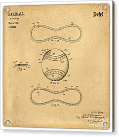 1928 Baseball Patent Art Maynard 1 Acrylic Print