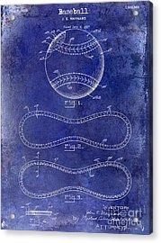 1928 Baseball Patent Drawing  Blue Acrylic Print by Jon Neidert