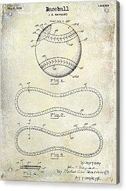 1928 Baseball Patent Drawing  Acrylic Print