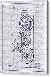 1928 Harley Cycle Support Patent Acrylic Print by Barry Jones