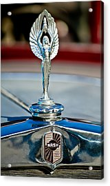 1928 Nash Coupe Hood Ornament 2 Acrylic Print by Jill Reger