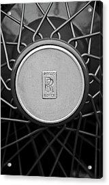 1928 Rolls-royce Spoke Wheel Acrylic Print