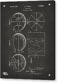 1929 Basketball Patent Artwork - Gray Acrylic Print