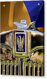 1929 Bianchi S8 Graber Cabriolet Hood Ornament And Emblem Acrylic Print by Jill Reger