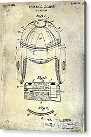 1929 Football Helmet Patent Drawing Acrylic Print