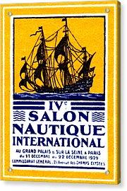 1929 Paris Boat Show Acrylic Print by Historic Image