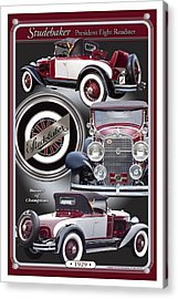 Acrylic Print featuring the photograph 1929 Studebaker President by Ed Dooley