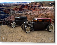 1930 And 1931 Ford Sedan Rat Rods Acrylic Print by Tim McCullough