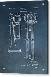 1930 Drink Mixer Patent Blue Acrylic Print by Dan Sproul