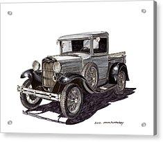 1930 Ford Model A Pick Up Acrylic Print by Jack Pumphrey