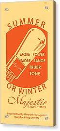 1930 Radio Tubes Ad Acrylic Print by Igor Kislev