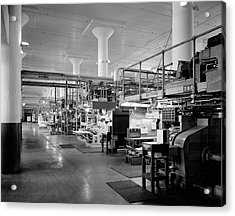 1930s 1940s Machinery In A Factory Acrylic Print