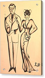1930s Couple On The Town Acrylic Print