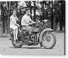 1930s Motorcycle Touring Acrylic Print by Daniel Hagerman