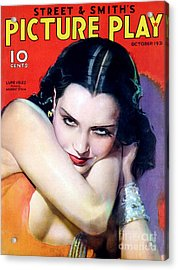 1930s Usa Picture Play Magazine Cover Acrylic Print