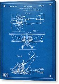 1931 Aircraft Emergency Floatation Patent Blueprint Acrylic Print by Nikki Marie Smith