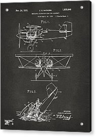 1931 Aircraft Emergency Floatation Patent Gray Acrylic Print