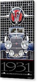 Acrylic Print featuring the photograph 1931 Cadillac V-16 Phaeton by Ed Dooley