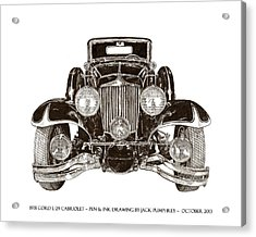 1931 Cord Cabriolet L 29 Acrylic Print by Jack Pumphrey