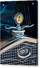 1931 Model A Ford Deluxe Roadster Hood Ornament Acrylic Print by Jill Reger