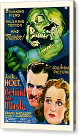 1932 Behind The Mask Vintage Movie Art Acrylic Print