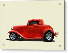 Acrylic Print featuring the photograph 1932 Ford 3 Window Coupe by Keith Hawley