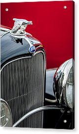 1932 Ford V8 Grille - Hood Ornament Acrylic Print by Jill Reger