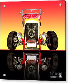 1932 Front Ford V8 Hotrod Acrylic Print by Jim Carrell