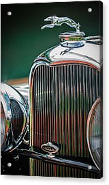 1932 Lincoln Kb Boattail Speedster Hood Ornament - Grille Emblem -0771c Acrylic Print by Jill Reger