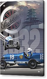 Acrylic Print featuring the photograph 1932 Studebaker Indy by Ed Dooley