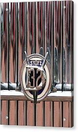 1932 Stutz Dv-32 Super Bearcat Emblem Acrylic Print by Jill Reger