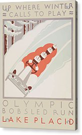 Acrylic Print featuring the painting 1932 Winter Olympics by American Classic Art